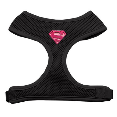 Pink Super Hero Chipper Dog Harness - Black