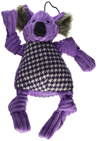HuggleHounds Corduroy Knotties Koala Bear,  Small