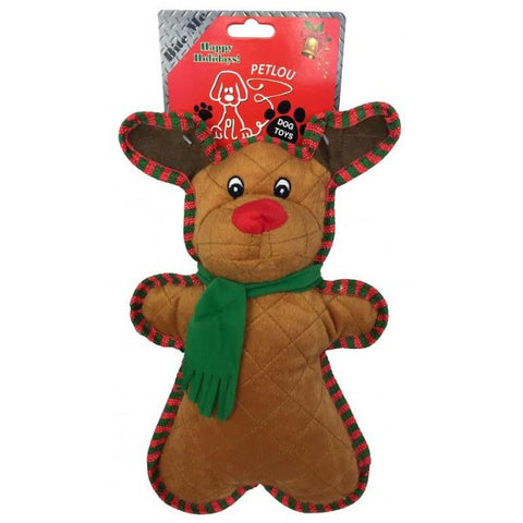 Christmas Reindeer Squeaky Dog Toy
