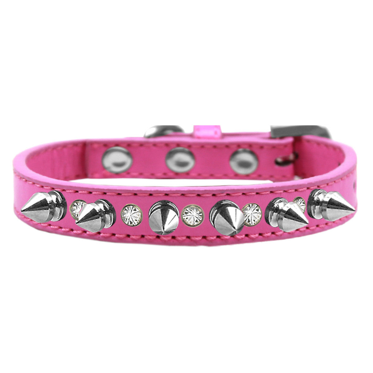 dog collar spike pink