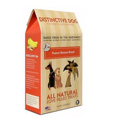 Distinctive Dog All Natural Dog Treats - Peanut Butter Banana Bread