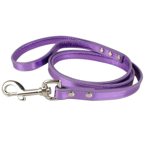 Foxy Metallic Dog Leash by Cha-Cha Couture - Lilac