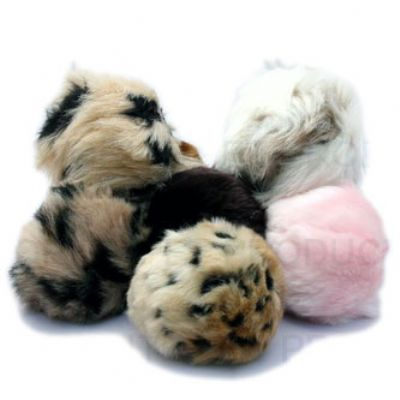 Favorite Pet Assorted Tiki Squeaky Faux Fur Balls