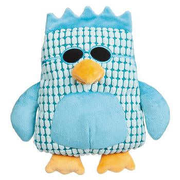 Grriggles Corduroy Cool Dudes Dog Toy - Blue Owl