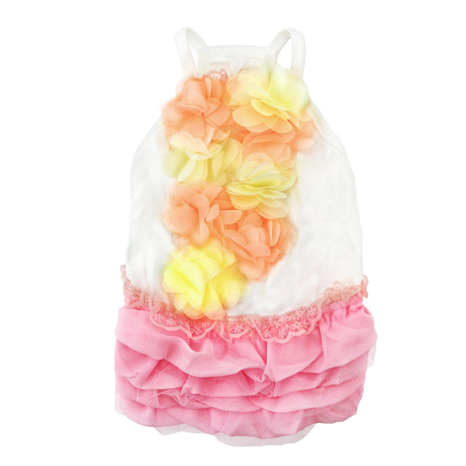 Pink Ruffles Dog Dress by Parisian Pet