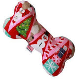 Plush Bone Dog Toy - Christmas Medley