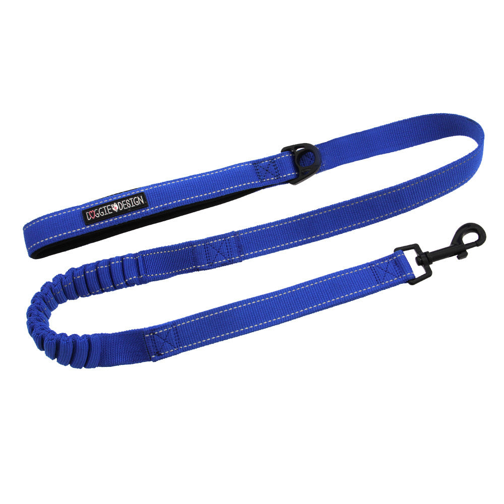 Soft Pull Traffic Dog Leash - Cobalt Blue - Dog toys