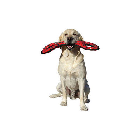 Tuffy Dog Toys - Ultimate Tug-O-War Red Paw Print