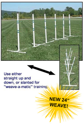 Affordable Agility Practice PVC Weave Set
