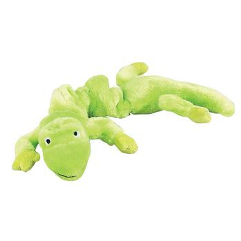 Zanies Bungee Geckos Dog Toy - Neon Green