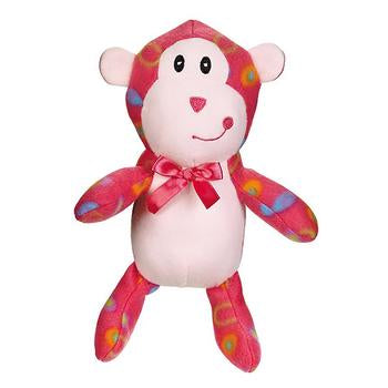 Zanies Fleece Cuddlers Dog - Pink Monkey