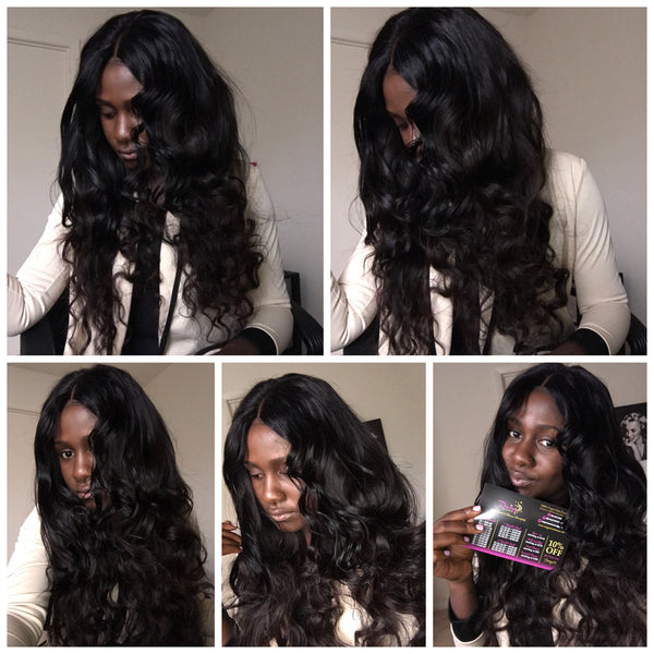Daisy Hair Extensions Peruvian full wig 4 X 4 lace closure