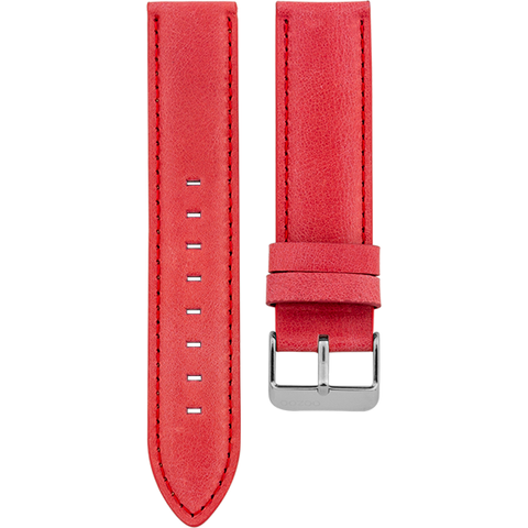 091 / Red / Silver Buckle