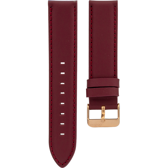 095 / Burgundy / Rose Gold Buckle