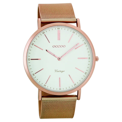 C7390 / 40mm / Mesh / Rose Gold Mesh