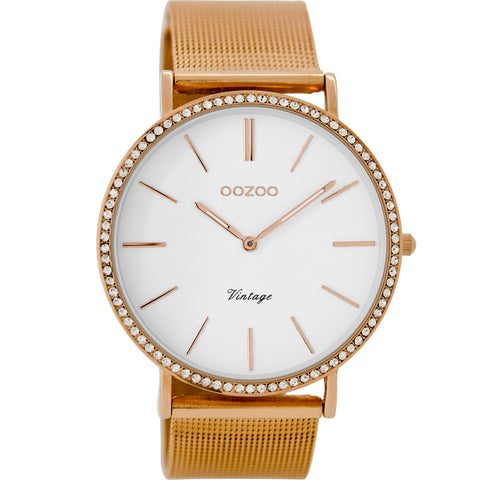 C8893 / 40mm / Rose Gold Mesh
