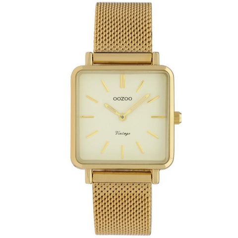 C9844 / 29x29mm / Square / Yellow Gold Mesh