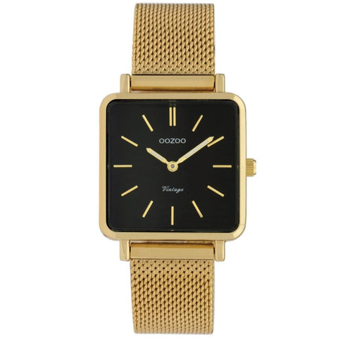 C9845 / 29x29mm / Square / Yellow Gold Mesh