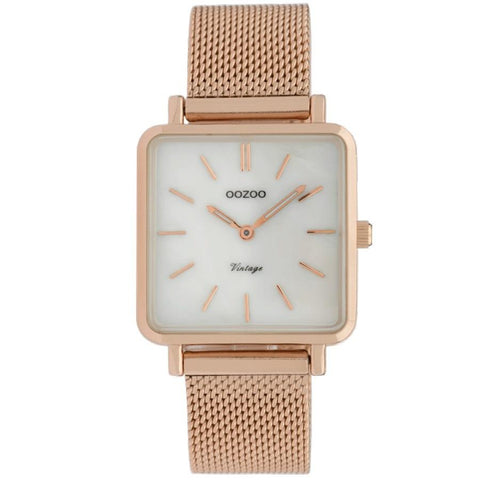 C9846 / 29x29mm / Square / Rose Gold Mesh