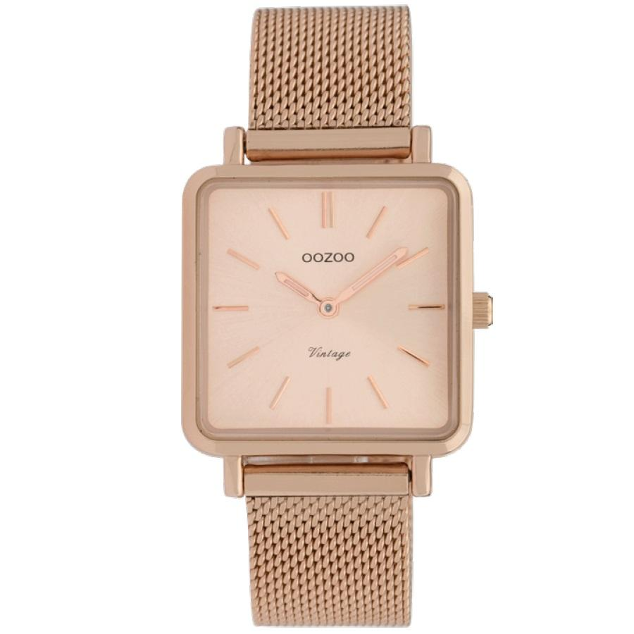 C9847 / 29x29mm / Square / Rose Gold Mesh