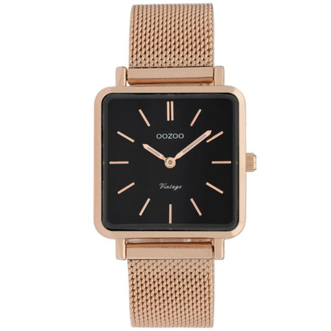 C9848 / 29x29mm / Square / Rose Gold Mesh