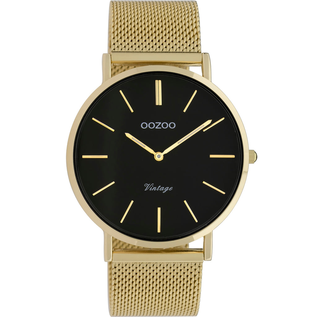 C9913 / 40mm / Yellow Gold Mesh