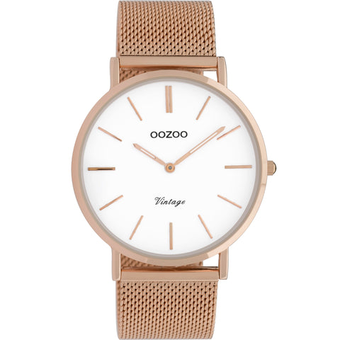 C9917 / 40mm / Rose Gold Mesh