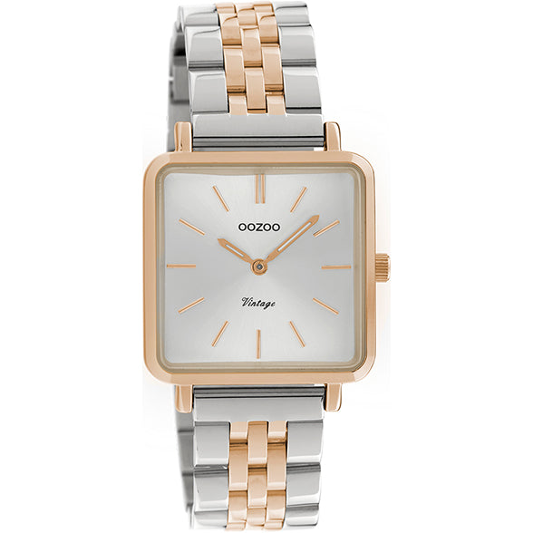 C9954 / 29x29mm / Rose Gold / Silver / White