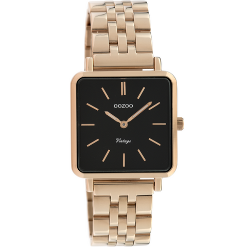 C9959 / 29x29mm / Square / Rose Gold Metal