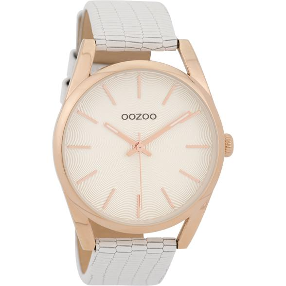 C9581 / 45mm / White Croco / Rose Gold