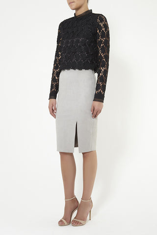 Abbey Suede Skirt