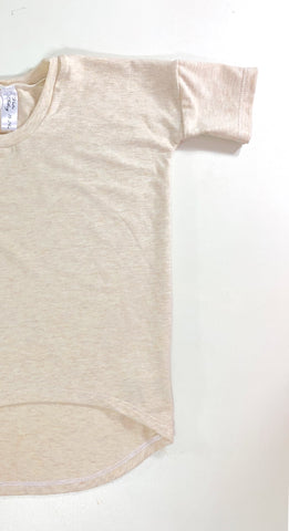 Oatmeal Bamboo hi/low T-Shirt