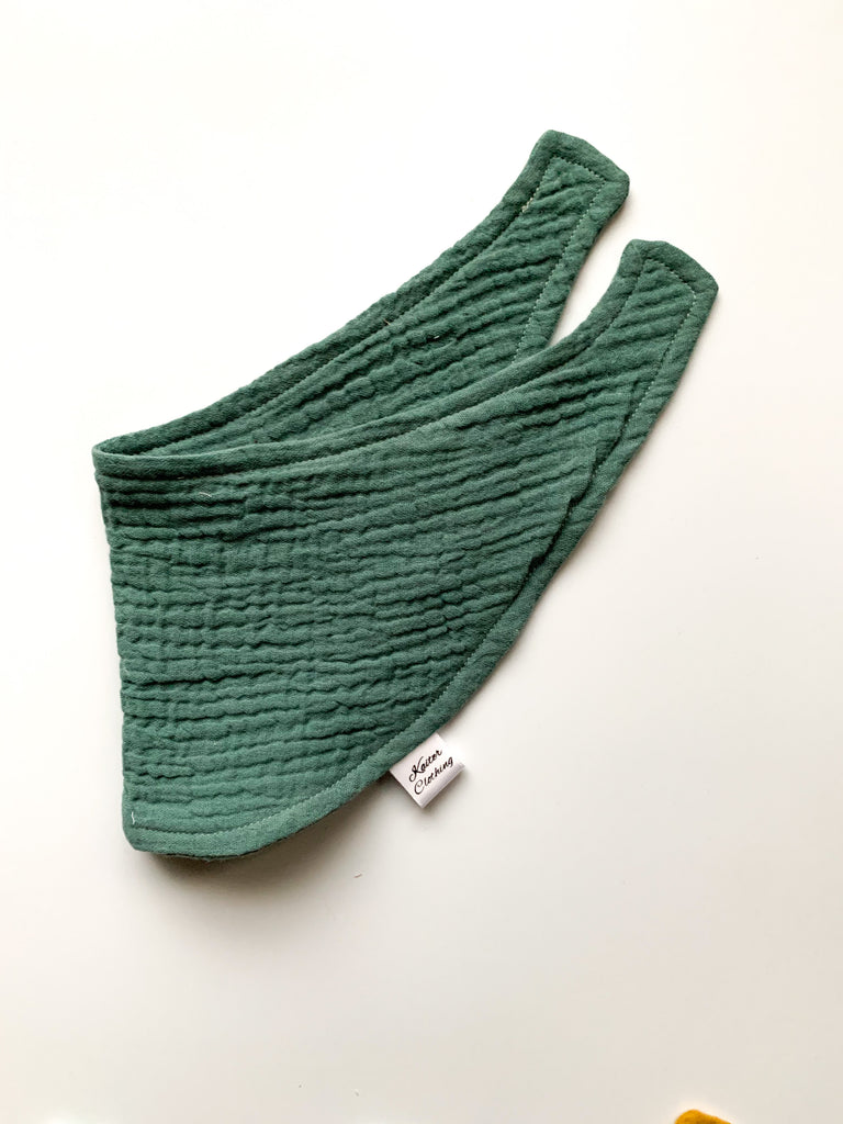 Teal Green Scarf Bib