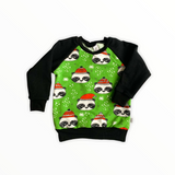 Holiday Panda - Grinch Green