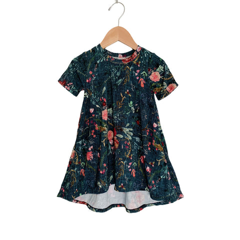Teal Fable Floral - Bamboo Dress