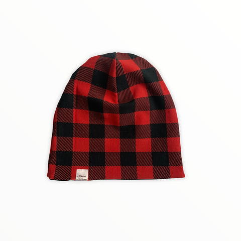 Reversible Slouch Beanie - Plaid