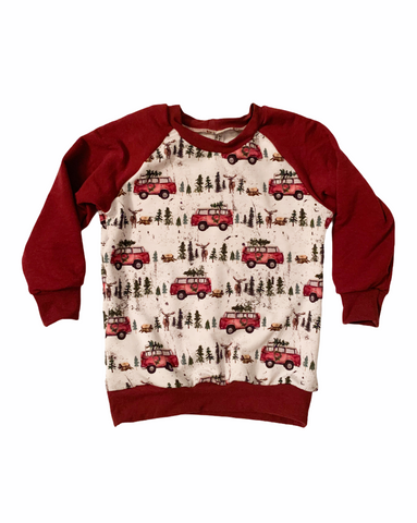 Home for the Holidays Sweater - Red