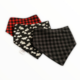 Plaid Mountain Bib Set