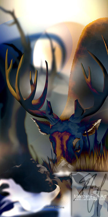 """Whitetail dreams"" - 10""x20"" Metallic Poster Print Only"
