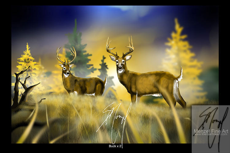 """Buck x 2"" - 16""x24"" Metallic Print Only"