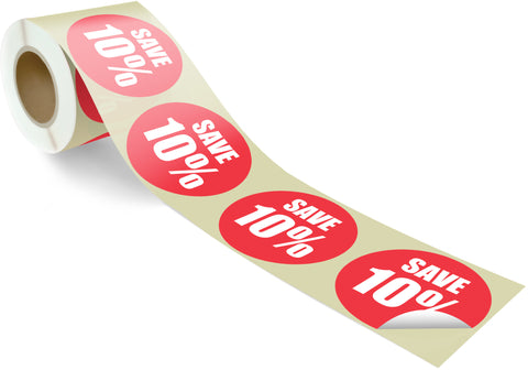 SAVE 10% - 100 per roll 100mm circles - FXRS1-100