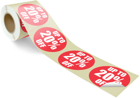 SAVE 20% - 100 per roll 60mm circles - FXRS2-60
