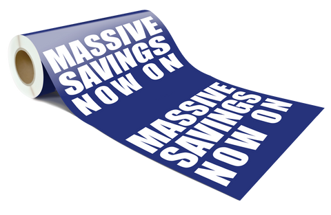 MASSIVE SAVINGS NOW ON Retail Poster / wrap / sign