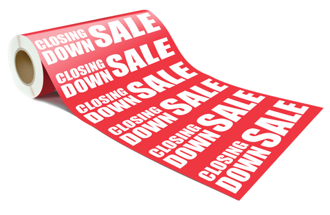 CLOSING DOWN SALE Poster / Wrap / Sign