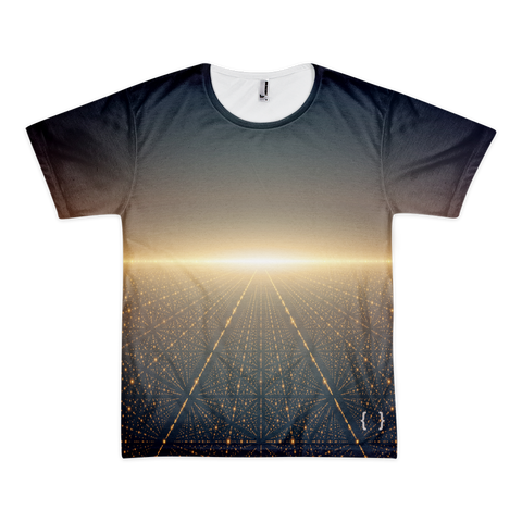 Galaxy Men's Short Sleeve All Over Print T-shirt-Space Tee-Futuristic
