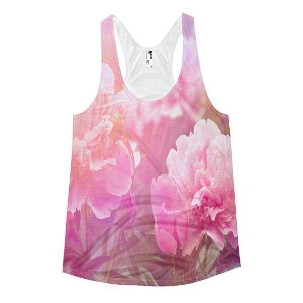 Peony Racerback All Over Print Women's Tank-Ladies-Floral