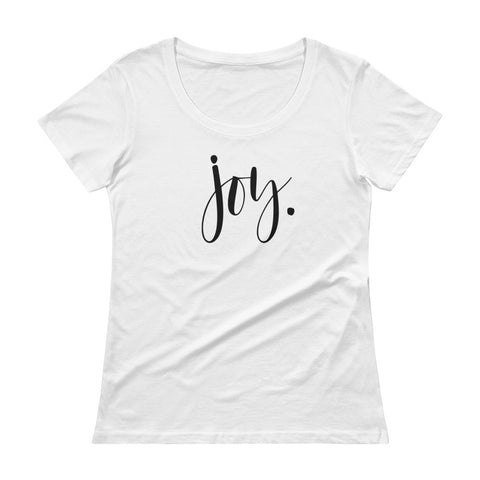 Joy-She is-Women's Sheer Tee-Ladies' Scoopneck T-Shirt