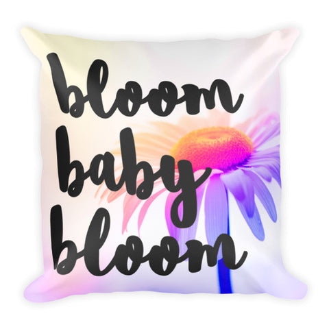 Daisy Pillow-Bloom Baby Bloom-18 x 18 Inch-Floral-Pillow Insert & Case-Pillow Case Only