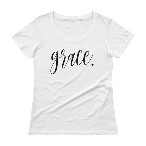 Grace-She is-Women's Sheer Tee-Ladies' Scoopneck T-Shirt