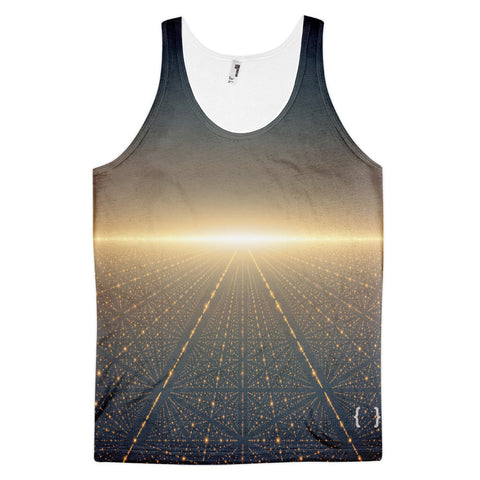 Galaxy Men's All Over Print Classic Fit Tank Top-Space-Futuristic